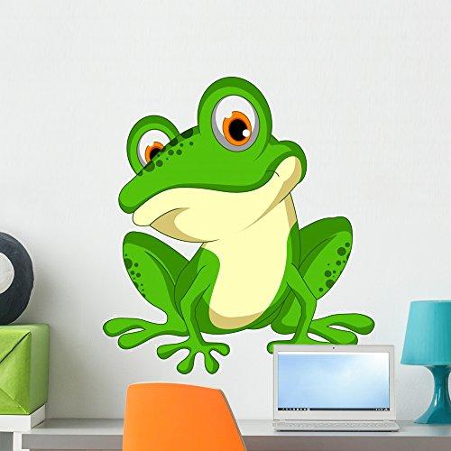 (Wallmonkeys Funny grün Frosch Cartoon Wand Aufkleber Abziehen und Aufkleben Graphic wm362635 24