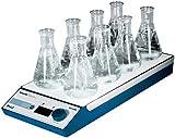 Witeg Magnetrührer MS-MP8 mit 4x2 Stellen 80-1.2000U/min, zum Mischen von Proben in der Mikrobiologie oder Biochemie