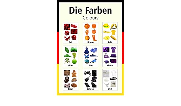 A3 German poster teaching aid / classroom resources - Colours/Die ...