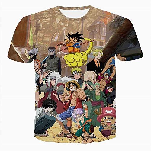 00657adb8 Naveho Camiseta Hombre Cuello Redondo Unisex Patrón 3D Impreso  Personalizada Algodón para T-Shirts Manga