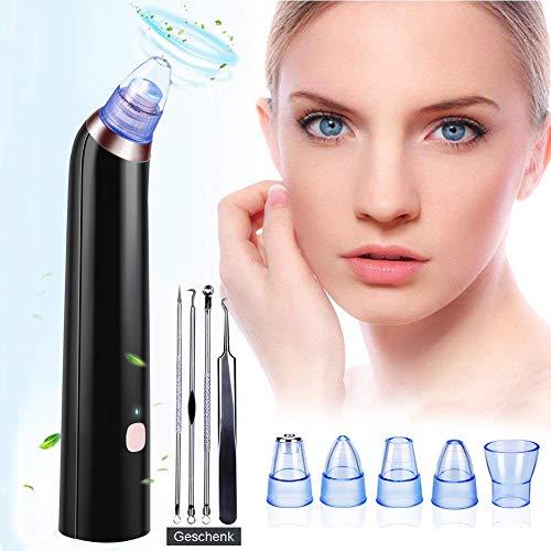 Mitesserentferner,Vakuum Absaugung Gesichts Cleaner Mitesser Entferner USB-Aufladung und 5 Austauschbaren Reinigungsaufsätzen