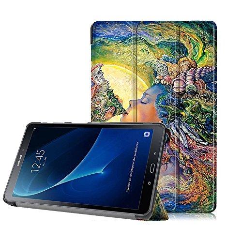Preisvergleich Produktbild Ledertasche Samsung Tab A6 Hülle, Etui für Galaxy Tab A 10.1 Zoll, - Schutzhülle für Samsung Galaxy Tab A 10.1 Zoll Wi-Fi / LTE (2016) SM-T580N / SM-T585N Tasche
