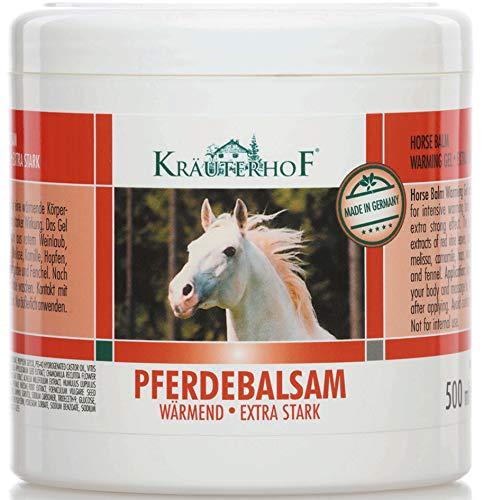 Kräuterhof 2197 Pferdebalsam Extra Stark, 500 ml (Creme Wärmende)