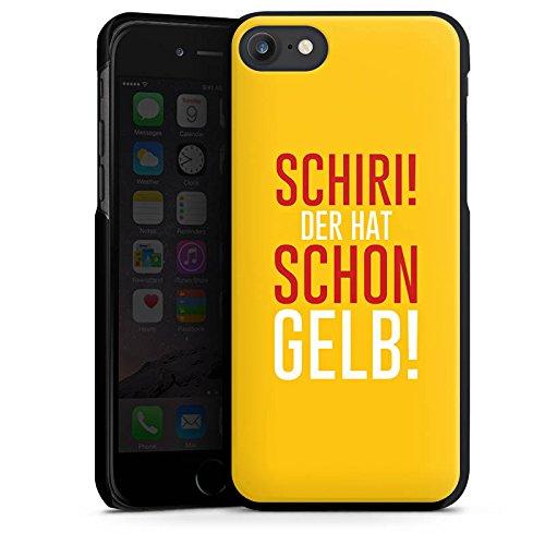 Apple iPhone X Silikon Hülle Case Schutzhülle Fußball Kreisliga Schiri Hard Case schwarz