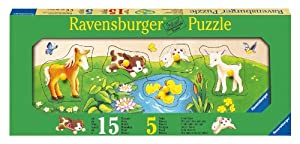 Ravensburger - Mis primeros cachorros, puzzle de 5 piezas de madera (03207 5)