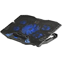 """NGS GCX-400 17"""" 2500RPM Negro Almohadilla fría - Base de refrigeración (43,2 cm (17""""), 5 Pieza(s), 12 cm, 2500 RPM, Negro, Metal, De plástico)"""