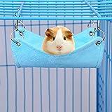 Zantec Arredi per habitat per animali domestici piccoli, Amaca peluche, letto caldo, adatto per topi scoiattolo coniglietto criceto, grande, blu