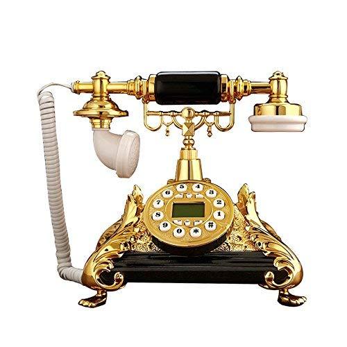 Guyu Festnetz Amerikanisches antikes Telefon-Willkommen - Telefon - Luxuxfestnetz-europäisches Telefon-Ausgang Klassische Vintage-Telefon - Antik-schwarzes Holz