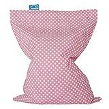Lounge Pug, Kinder Sitzkissen, Sitzsack, Druck Pink Getupft