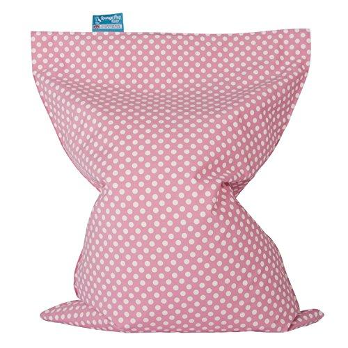 Lounge Pug®, Kinder Sitzkissen, Sitzsack, Druck Pink Getupft