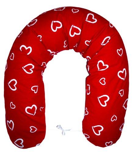 Amilian® Stillkissen Lagerungskissen Seitenschläferkissen ink.Bezug 170cm NEU XXL Baby rot