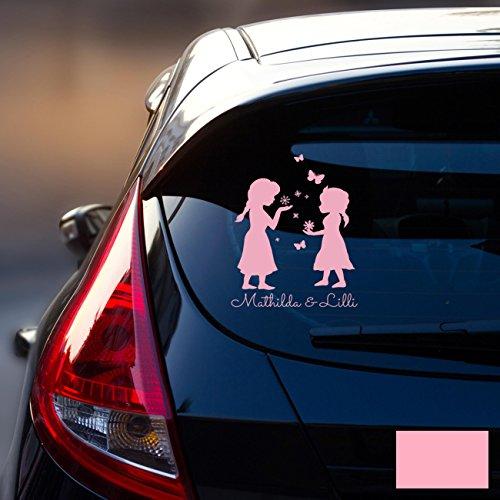 Autotattoo Heckscheibenaufkleber Fahrzeug Sticker Aufkleber Baby Schneekönigin Frozen Kinder M1872 - ausgewählte Farbe: *rosa* ausgewählte Größe: *M - 18cm breit x 25cm hoch* (Welt Der Wall Mural)