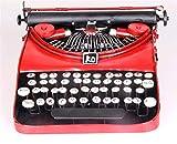 Xiuxiandianju Vintage vecchia macchina da scrivere Girl ornamenti decorativi e Mestieri Bar Conservare Vetrina, Rosso