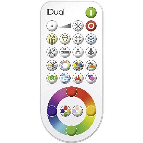 Jedi Lighting iDual RGB-LED Fernbedienung mit Szenen- und Funktionssteuerung, Dimmer, Farbwechsler, Hauptschalter