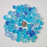 Perline di vetro di mare/spiaggia perline di vetro per fare gioielli (taglia M/10–14mm, multicolore blu cobalto Aqua purple-blue mix, non forato), 20 pezzi