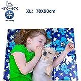 Mingzheng Tappetino di Raffreddamento per Cani, Stuoia Resistente per Animali Domestici, Letto Fresco di Ghiaccio con Cuscinetto in Gel di Raffreddamento 79*90cm
