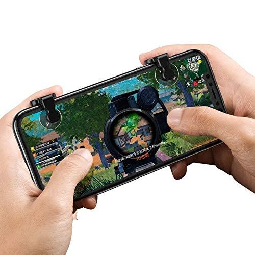 Baseus Red-Dot Mobile Game Scoring Tool Controller Zielauslöser L1R1 Schaltfläche Bumper für Smartphone für Spieler Gamer Zocker Android iOS in Schwarz Dot Mobile