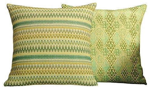 Yuga Dekorative Sofa-Kissen Bezug Werfen 100% Baumwolle Gedruckt Kissen Bezüge - 2 Stück - 16 x 16 Zoll (Gedruckt Dekorative Kissen)
