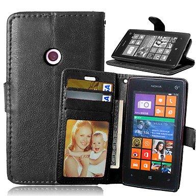 HL CASES And COVERS Schöne Fälle, Abdeckungen, Luxus-PU-Leder Karteninhaber Geldbörse Stehen Klappdeckel mit Fotorahmen Fall für Nokia Lumia 520 (Farbe : Schwarz, Kompatible Modellen : Lumia 830) - Lumia Fall Nokia 830 Geldbörse