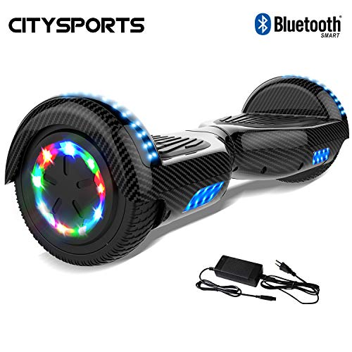 Kategorie <b>Zweirad E-Board (Hoverboard) </b> - CITYSPORTS Hoverboard 6,5 Zoll, Selbstabgleich elektrischer Scotter, LED-Lichträder, Bluetooth, 700W Motor