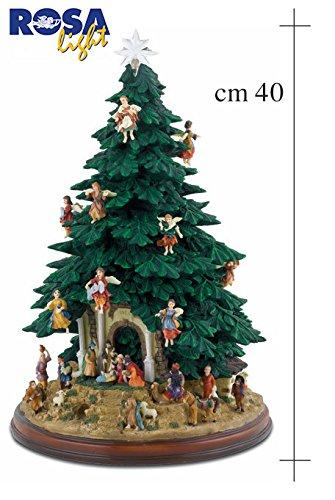 Albero di Natale già addobbato a 360° con presepe