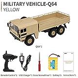 Bescita JJRC Q64 RC 2,4G Fernbedienung Truck Armee 1:16 4WD Verfolgt Räder Crawler Kettenrad Off-Road Auto RTR Spielzeug NEUZ (Gelb)