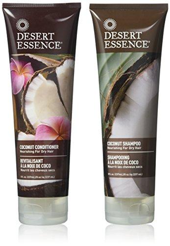 Desert Essence, Coconut Shampoo & Conditioner - Nourishing For Dry Hair 8 oz. (Twin Pack)