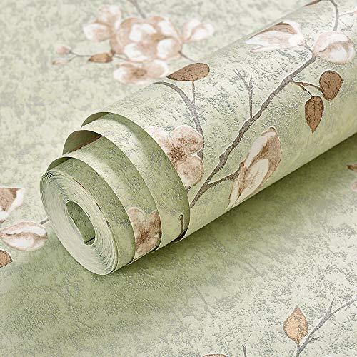 Glatte unbedeutende Tapete, Multifunktionstapete, tägliche Tapete des Hauses Große Blumenmusterhintergrund-Tapete matcha Farbe 0.53m * 10m des Gartens