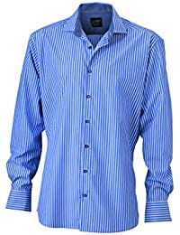 JAMES & NICHOLSON - chemise tendance rayée - repassage facile - JN632 - Homme