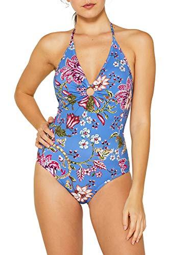 ESPRIT Badeanzug mit Blumen- und Beeren-Print - Blumen-print-badeanzug