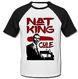 Photo de TEESQUARE1st Men's NAT King Cole Jazz Black Short Sleeved T-Shirt par TEESQUARE1st