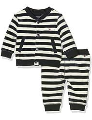 Tommy Hilfiger Baby-Jungen Bekleidungsset Striped Velour Boy 2 Piece