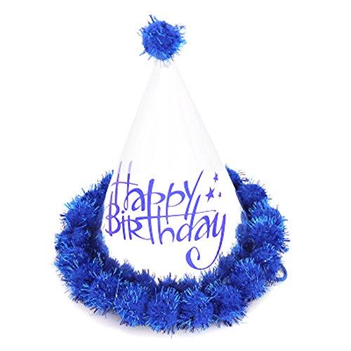 Dosige 1 Stück Partyhüte Geburtstag Hut Kinder Erwachsene Partei Hüte für Kinder's Geburtstag Party Deko Kegel Hüte Dunkelblau