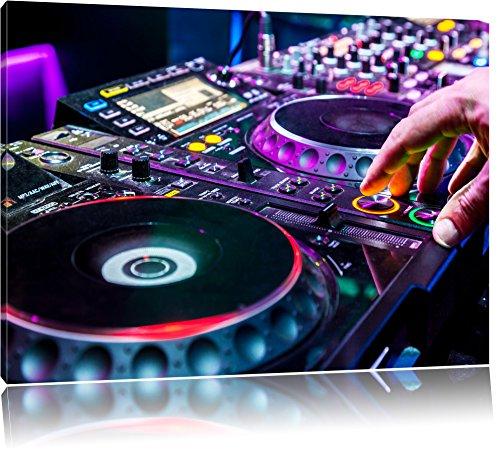 Moderna illuminato console DJ, formato: 100x70 su tela, XXL enormi immagini completamente Pagina con la barella, stampa d'arte sul murale con telaio, più economico di pittura o un dipinto a olio, non un manifesto o un