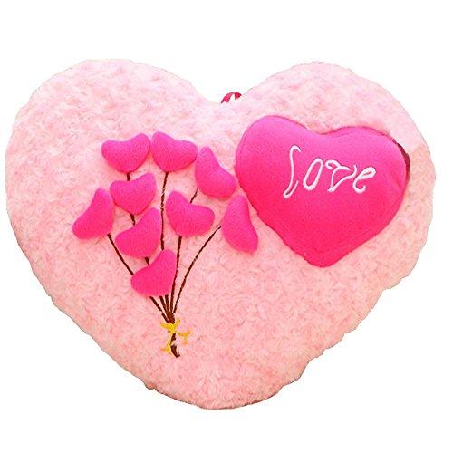 QJIAXING Coussin décoratif canapé Coussin Peluche en Forme de Coeur Amour Oreiller Lombaire Coton PP Peluche, Love Pillow 50 cm *35 cm