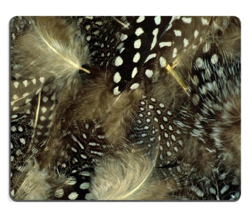 black-white-dots-feather-ruffle-mouse-pads-customized-made-to-order-support-ready-9-7-8-inch-250mm-x