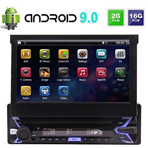EINCAR In-Dash-Steuergerät Car Stereo 1-DIN Android 9.0 Audio Radio Receiver mit 7-Zoll-Touchscreen-Unterstützung 1080P Spiegel Link Online & Offline-Navi WiFi Bluetooth USB TF + Backup-Kamera