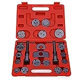 21 piezas Universal Disco de freno Caliper Rewind Back Tool para freno Pad reemplazo, evitar daños pistones y juntas, juego de herramientas de pinza de freno