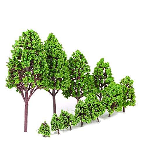 Spielzeugmodell pädagogisches Spielzeug, das Kinde 12 STÜCKE Kunststoff Modell Bäume Architekturmodelle für Eisenbahn Layout Garten Landschaft Landschaft Stil 1 (Size : 2)