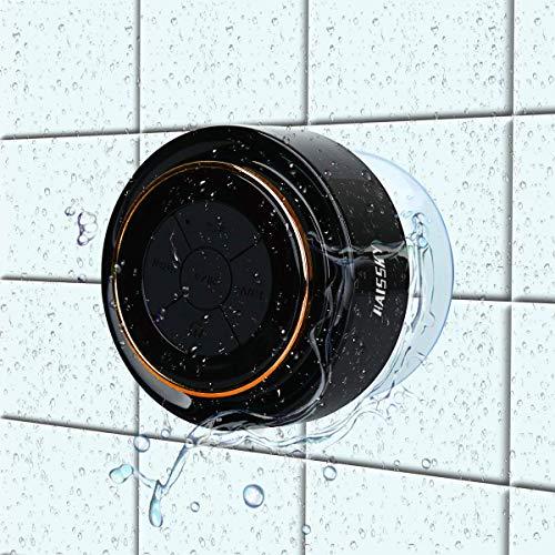 Haut-parleur de douche Enceinte Bluetooth Étanche Radios de Douche Haut-Parleur Portable avec FM...