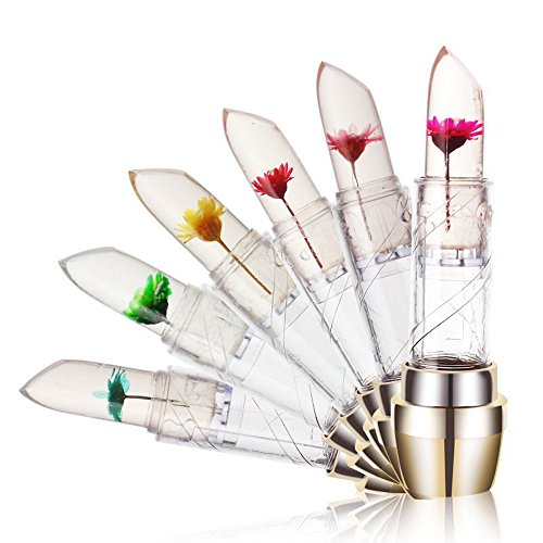 Lipstick,EUZeo Lippenstift wasserdicht Jelly Blume Farbe Temperatur Änderung Feuchtigkeitscreme Lippen Lippenstift (6 PCS Lipstick)