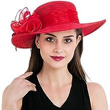 Dantiya Multicolores Organdí Sombrero Con gran Flores De Ala Ancha Verano Sombrero De Fiesta De La Boda Iglesia