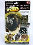 EZ Combs - 2 x Haarspangen - Trendiges Vintage Haarschmuck - Haarspange Hair Fashion Comb Haarklammer Dutt Klammer Haargreifer Kopfschmuck Brautfrisur Brautschmuck