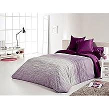 Reig Martí Chil - Juego de funda nórdica jacquard, 4 piezas, para cama de 180 cm, color morado