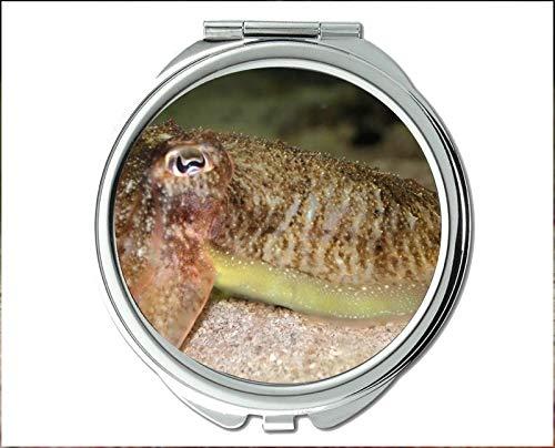 Yanteng Spiegel, Reisespiegel, Aquarium-Thema des Taschenspiegels, tragbarer Spiegel 1 X 2X Vergrößerung