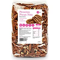 PINK SUN Pecanas 500g Nueces de Pecan Mitades y Pedazos Crudas No tostado Sin Sal Natural Pieles Frutos Secos Sin Cáscara - Raw Pecan Nuts