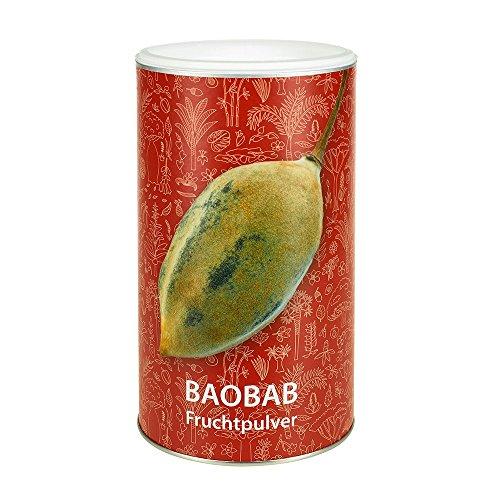 Pure Baobab Fruchtpulver Bio für Smoothies und Shakes - Baobab-Pulver naturrein/unbehandelt (1 Dose à 350 g) -