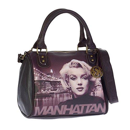 Marilyn Manhattan Bowlingtasche Handtasche Schultertasche Umhängetaschen Ch