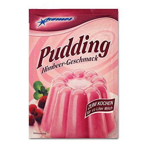 5er Pack Komet Pudding Himbeer-Geschmack (5 x 40 g) zum Kochen Puddingpulver Dessert Puddingdessert
