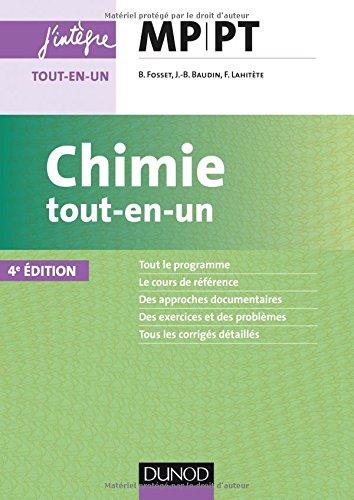 Chimie tout-en-un MP-PT - 4e éd par Bruno Fosset